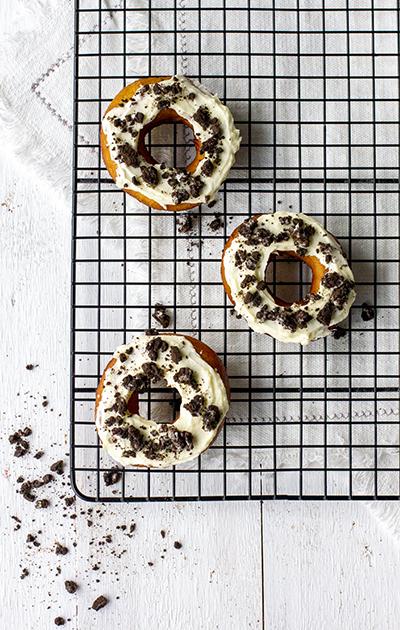 Donuts med Oreo og ostekrem
