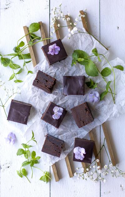 Brownies med mascarpone og sjokoladeganache