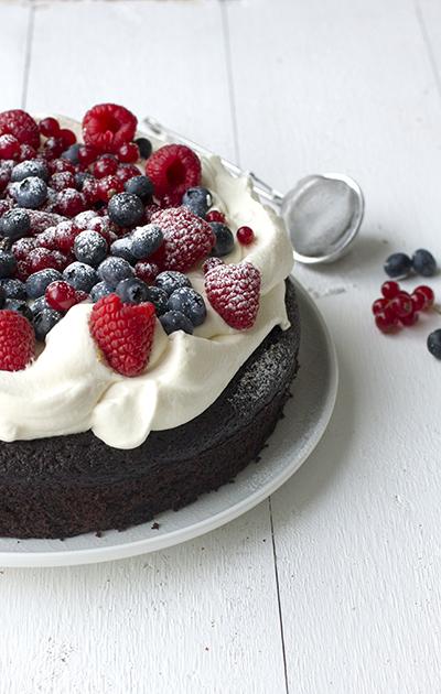 Sjokoladekake laget med rødbeter