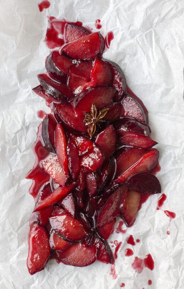 Krydderstekte plommer